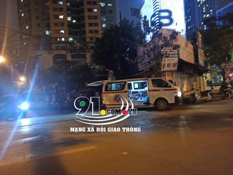 Xe cứu thương tại hiện trường vụ tai nạn