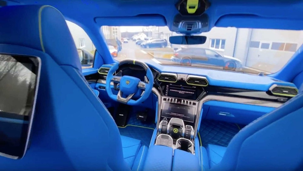 Nội thất của chiếc Lamborghini Urus độ bởi Mansory