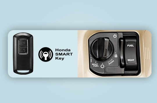 Hệ thống Smart Key cùng bộ điều khiển FOB của Honda Lead 125