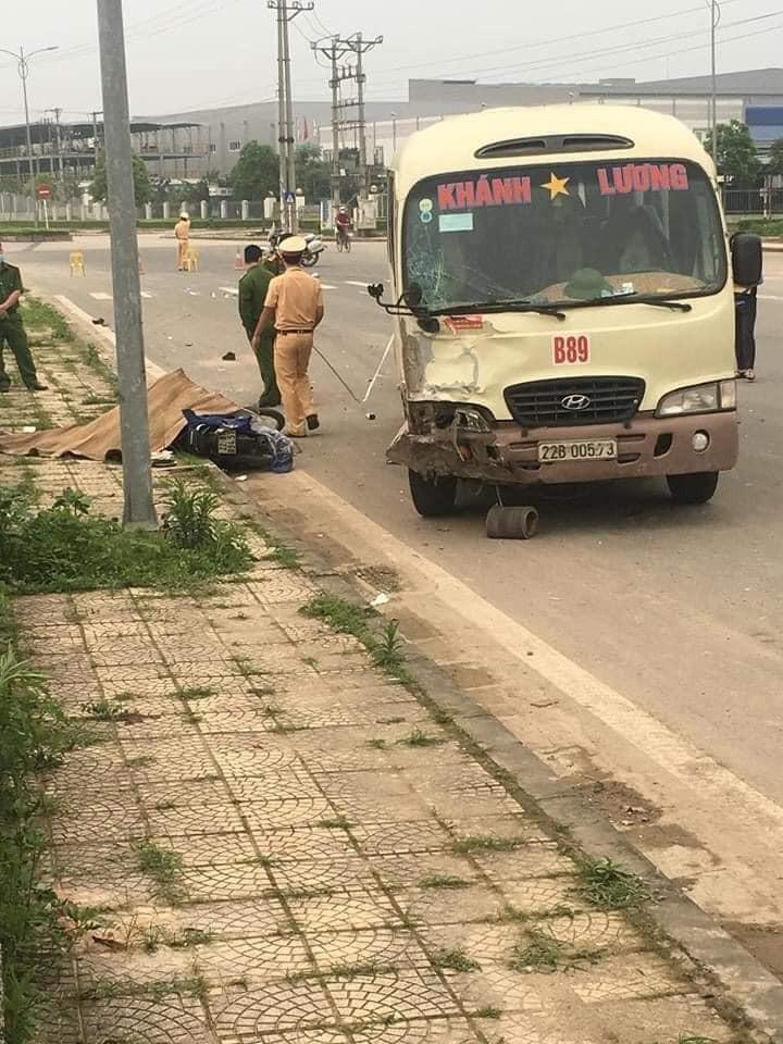 Hiện trường vụ tai nạn tại Vĩnh Phúc
