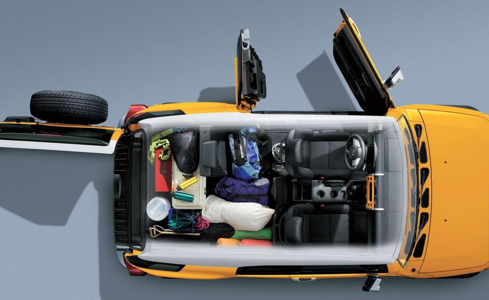 Hàng ghế sau có thể gập xuống để tăng thể tích khoang hành lý