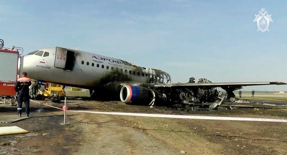 Những gì còn lại của chiếc máy bay