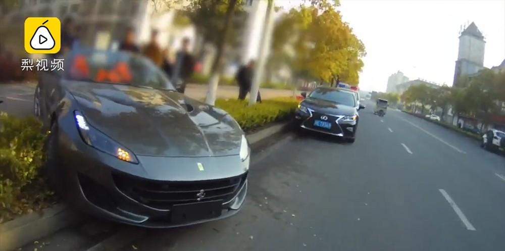 Hiện trường vụ tai nạn của chiếc Ferrari Portofino