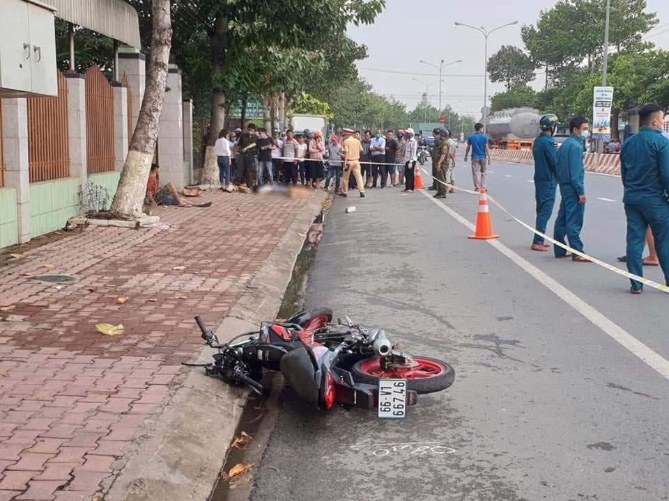 Chiếc xe côn tay Suzuki Raider 150 bị hư hỏng nặng