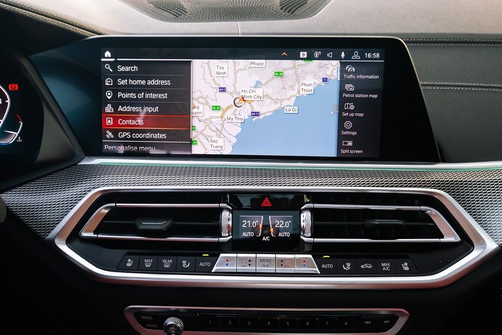 Màn hình cảm ứng của BMW X6 xDrive40i M Sport 2020