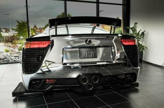 Chromed Lexus LFA supercar for sale