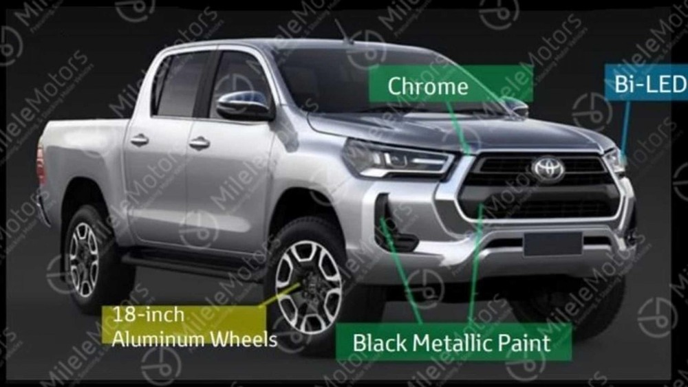 18-inch wheels of Toyota Hilux 2021