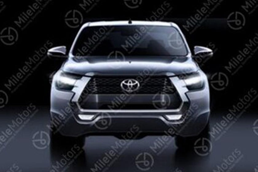 The front end design of Toyota Hilux 2021 is quite similar to Tacoma