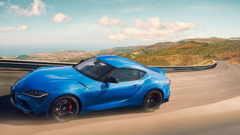 Toyota GR Supra RZ Horizon Blue Edition 2021 with special blue paint