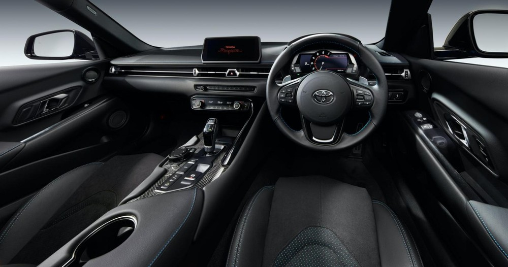 Interior inside the Toyota GR Supra RZ Horizon Blue Edition 2021