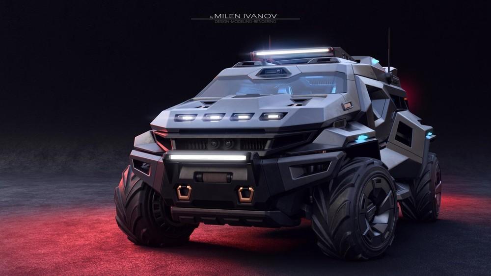 Thiết kế xe ArmorTruck của Milen Ivanov