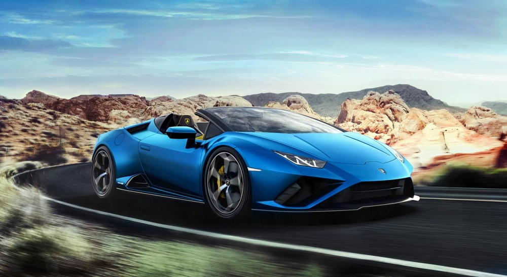 Nguồn cung cấp sức mạnh cho Lamborghini Huracan EVO RWD Spyder là khối động cơ xăng V10, hút khí tự nhiên, dung tích 5,2 lít