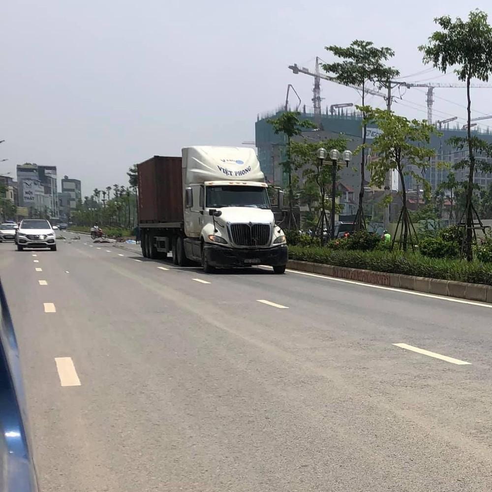 Tài xế xe container đã rời khỏi hiện trường sau vụ tai nạn
