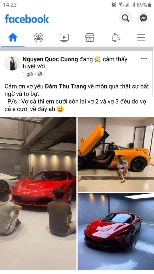 Cường Đô-la chia sẻ việc mua siêu xe Ferrari F8 Tributo