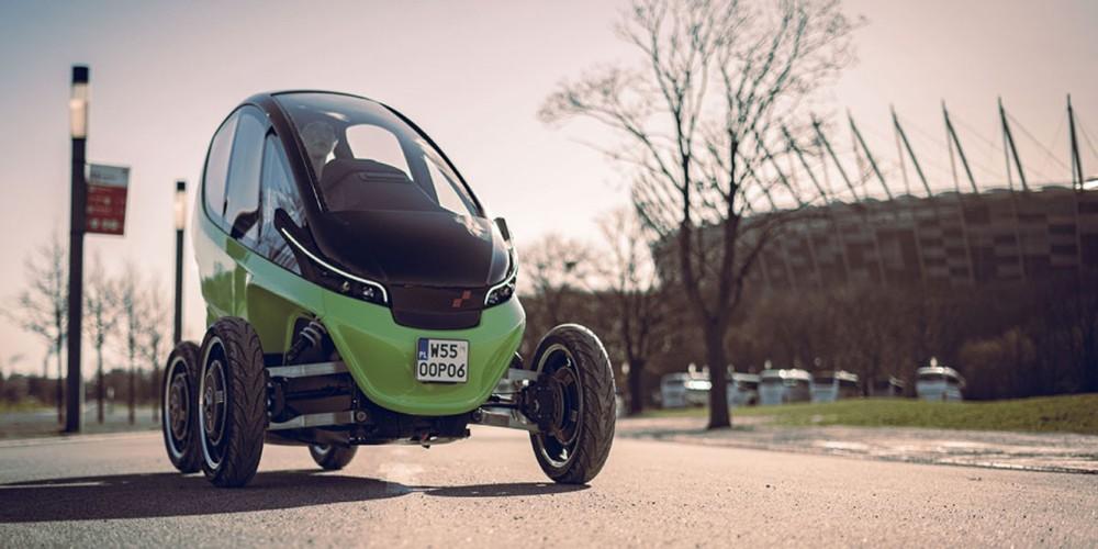 Triggo là một chiếc xe điện bé nhỏ chuyên dụng trong đô thị hiện đại