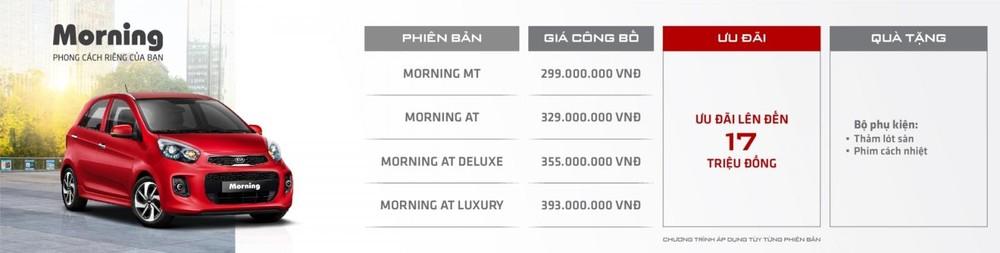 Kia Morning khuyến mãi trong tháng 5/2020