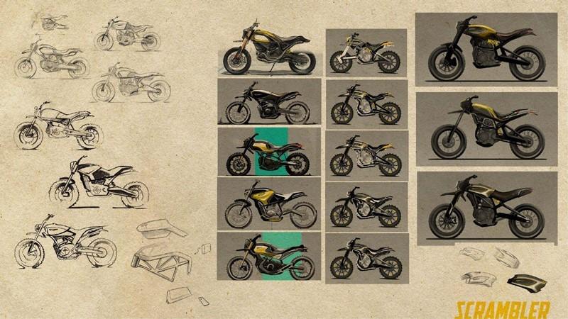 Bản thiết kế xe Ducati Scrambler được vẽ và hoàn thiện bởi Peter Harkins