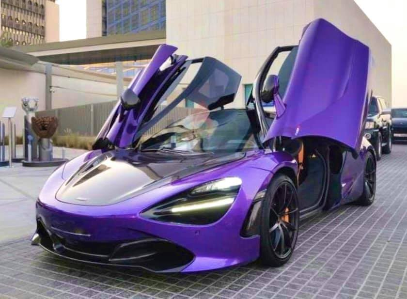 The image of the purple McLaren 720S is about to return to Vietnam