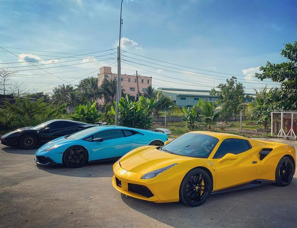 Close-up supercar Ferrari 488 Spider convertible car to take the bride