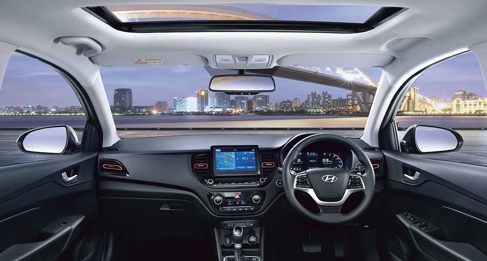 Nội thất bên trong Hyundai Accent 2020 dành cho Ấn Độ