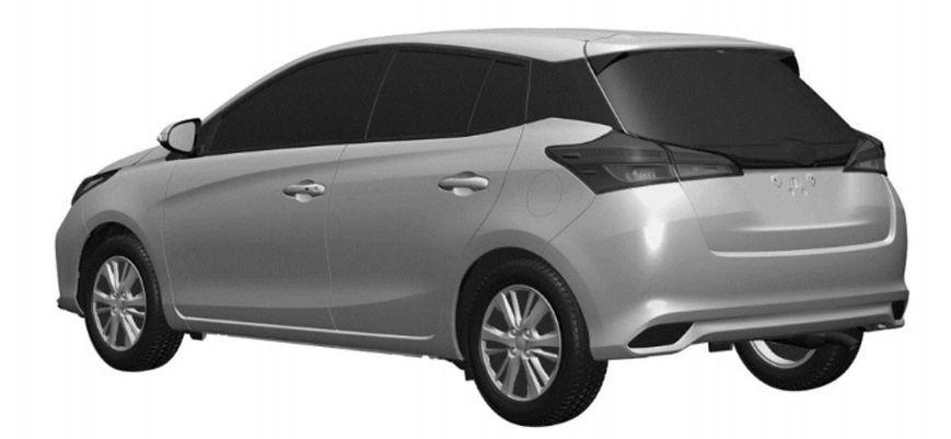 Toyota Yaris 2021 nhìn từ phía sau