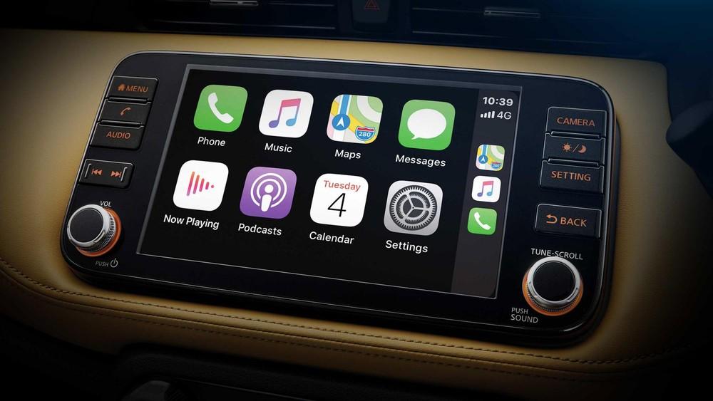 Màn hình trung tâm hỗ trợ Apple CarPlay