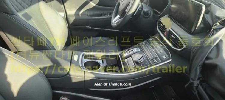 Hình ảnh nội thất rò rỉ mới của Hyundai Santa Fe 2021