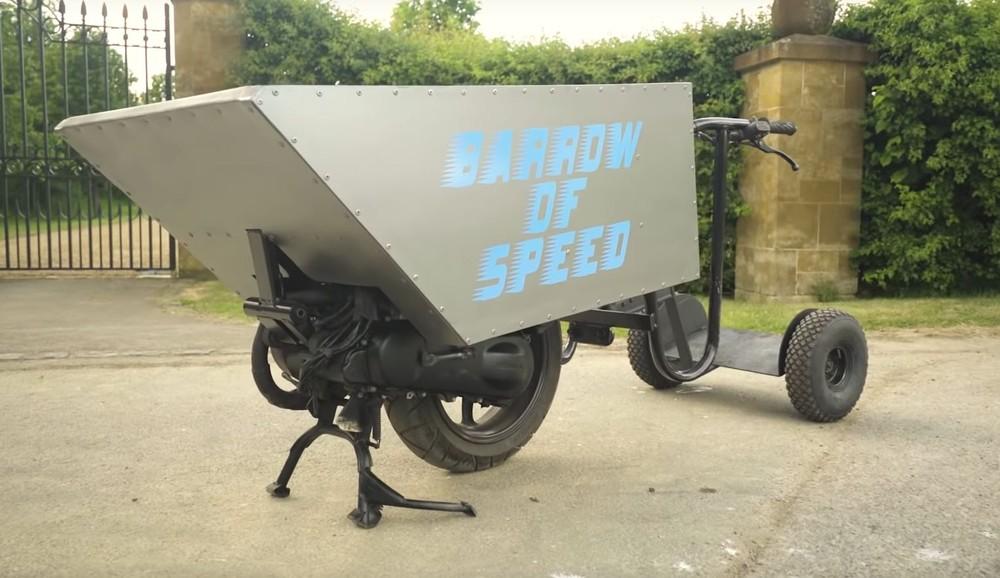 Đây là chiếc xe đẩy cút kít nhanh nhất thế giới