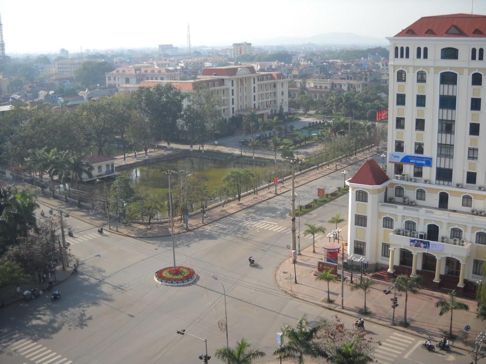 Khu vực trung tâm thành phố Bắc Giang