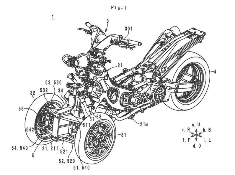Thiết kế xe ba bánh mới của Yamaha