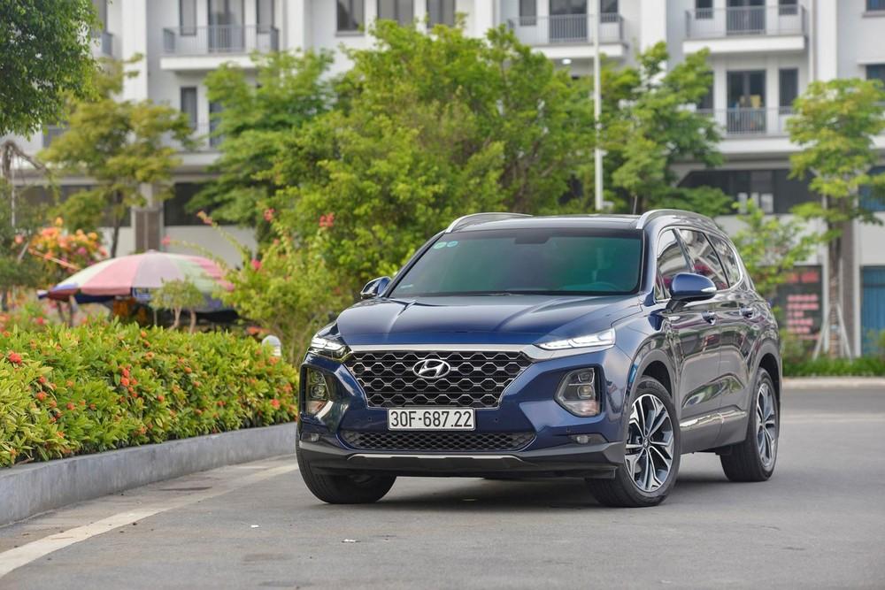 Doanh số bán hàng của Hyundai Santa Fe ở tháng 5 vừa qua đạt mức tăng trưởng tới 225%
