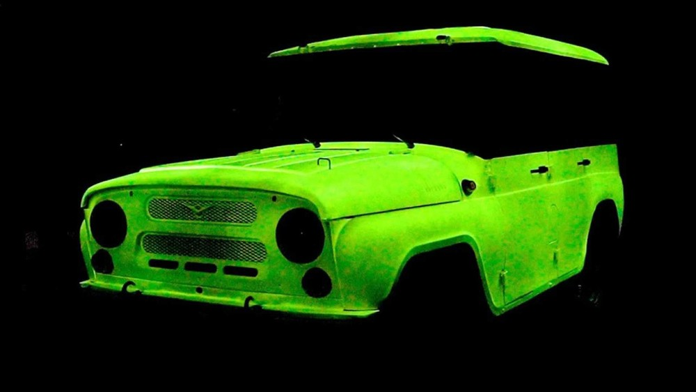 The image of the car that glows when the lights are off is impressive