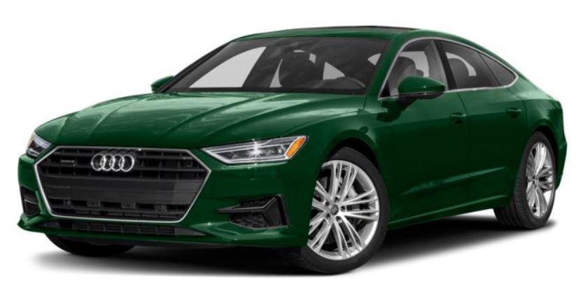 Audi A7 xanh lá