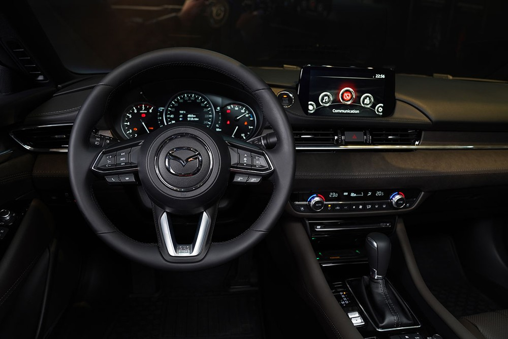 The infotainment system is compatible with Apple CarPlay and Android Auto