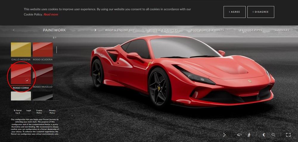 Ferrari F8 Tributo đỏ