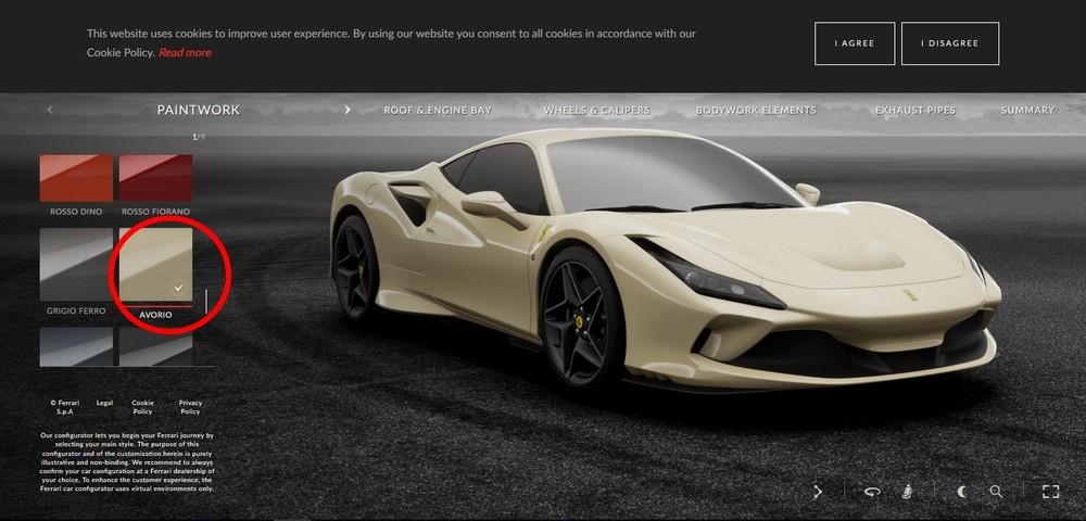 Ferrari F8 Tributo be
