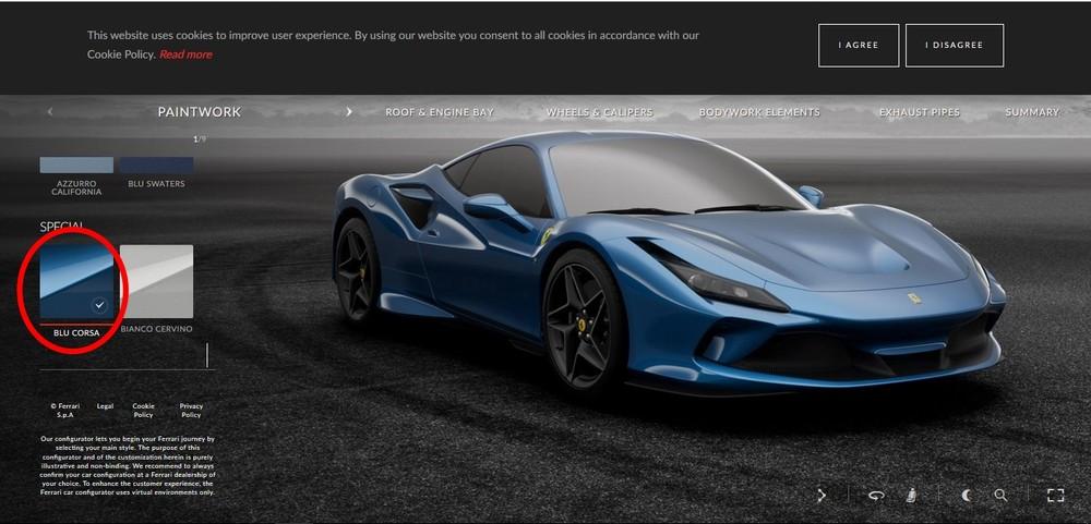 Ferrari F8 Tributo xanh