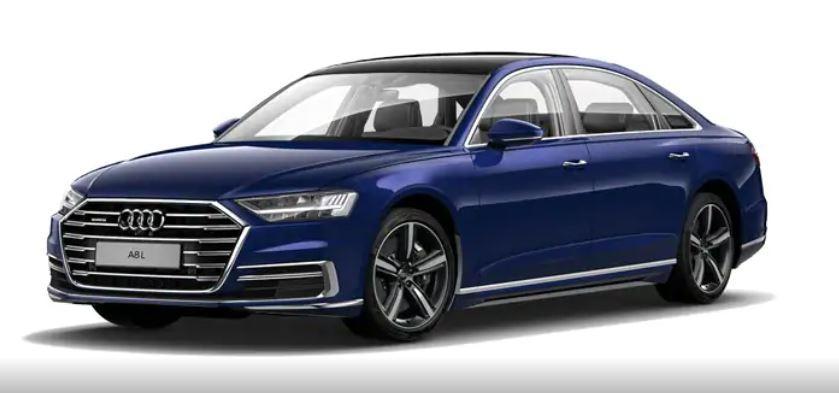 Audi A8 xanh