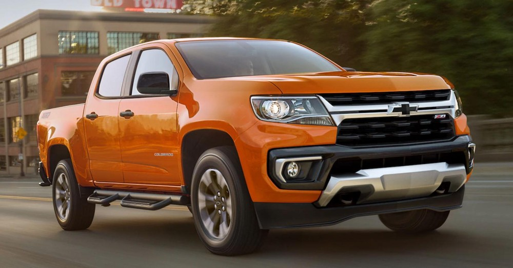 New front end design of Chevrolet Colorado 2021