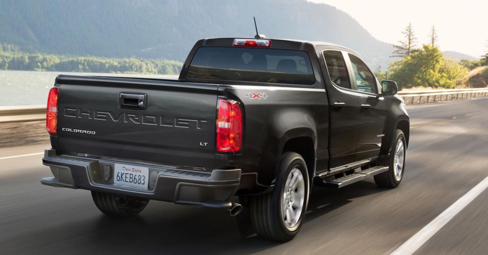 Rear design of Chevrolet Colorado 2021