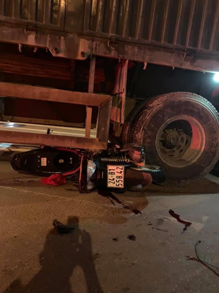 Hiện trường vụ tai nạn tại thị trấn Phố Lu