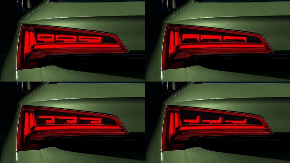 Tạo hình bên trong cụm đèn hậu của Audi Q5 2021 có thể thay đổi
