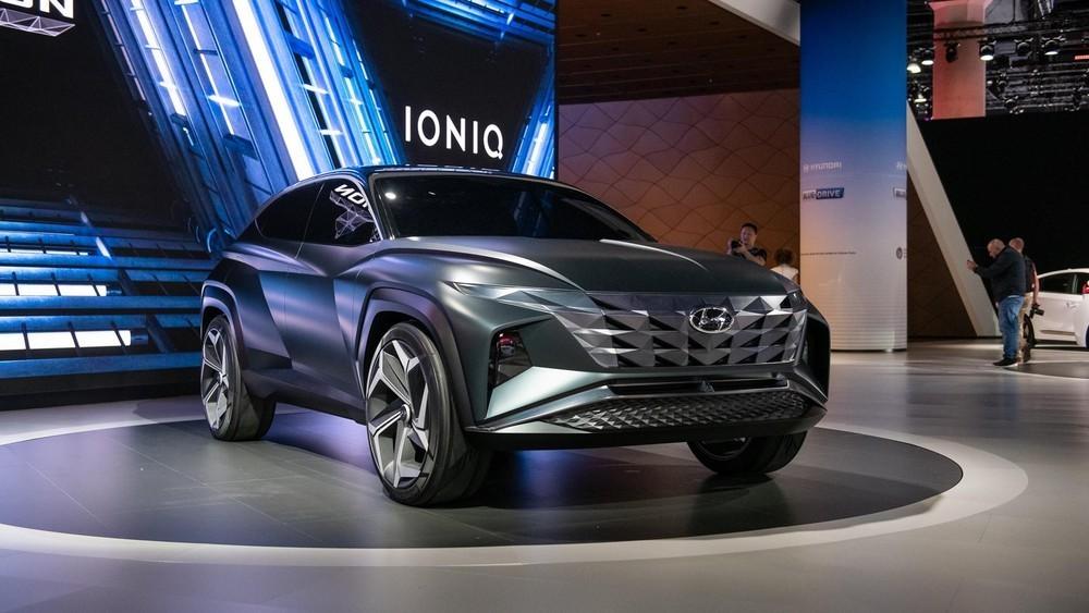Thiết kế ngoại thất của Hyundai Tucson 2021 được cho là lấy cảm hứng từ Vision T Concept
