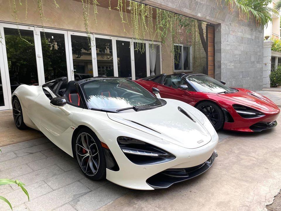 McLaren 720S Spider trắng đỏ