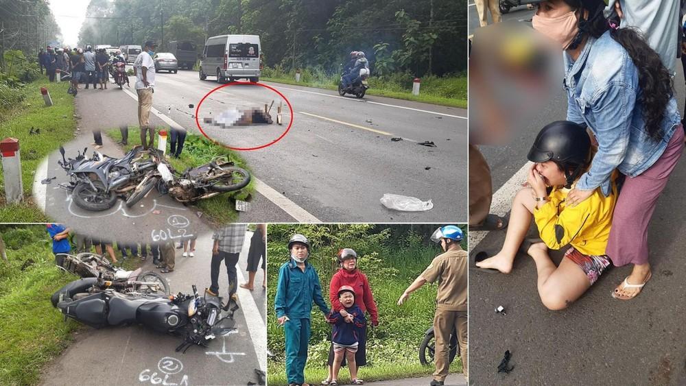 Hiện trường vụ tai nạn Honda CBR150R tại Đồng Nai
