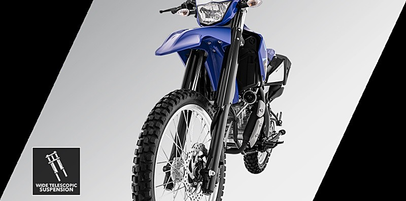 Cặp phuộc cao to trên Yamaha WR155 2020 dù không phải USD