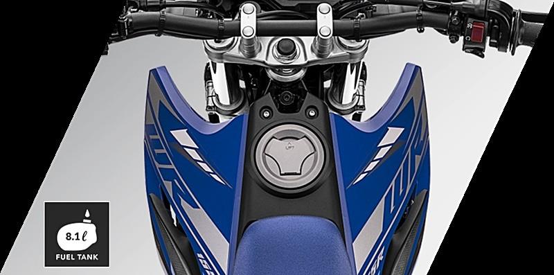 Dung tích bình xăng 8,1 lít trên Yamaha WR155