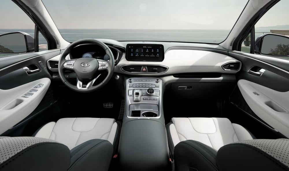 Nội thất bên trong Hyundai Santa Fe 2021