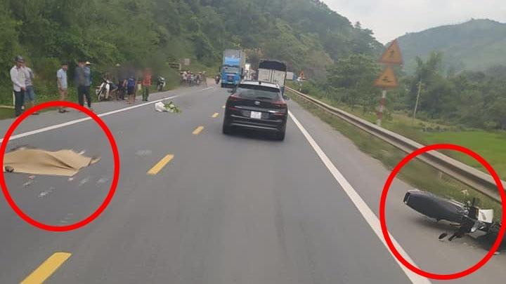 Vụ tai nạn này làm nam thanh niên điều khiển xe máy tử vong tại chỗ