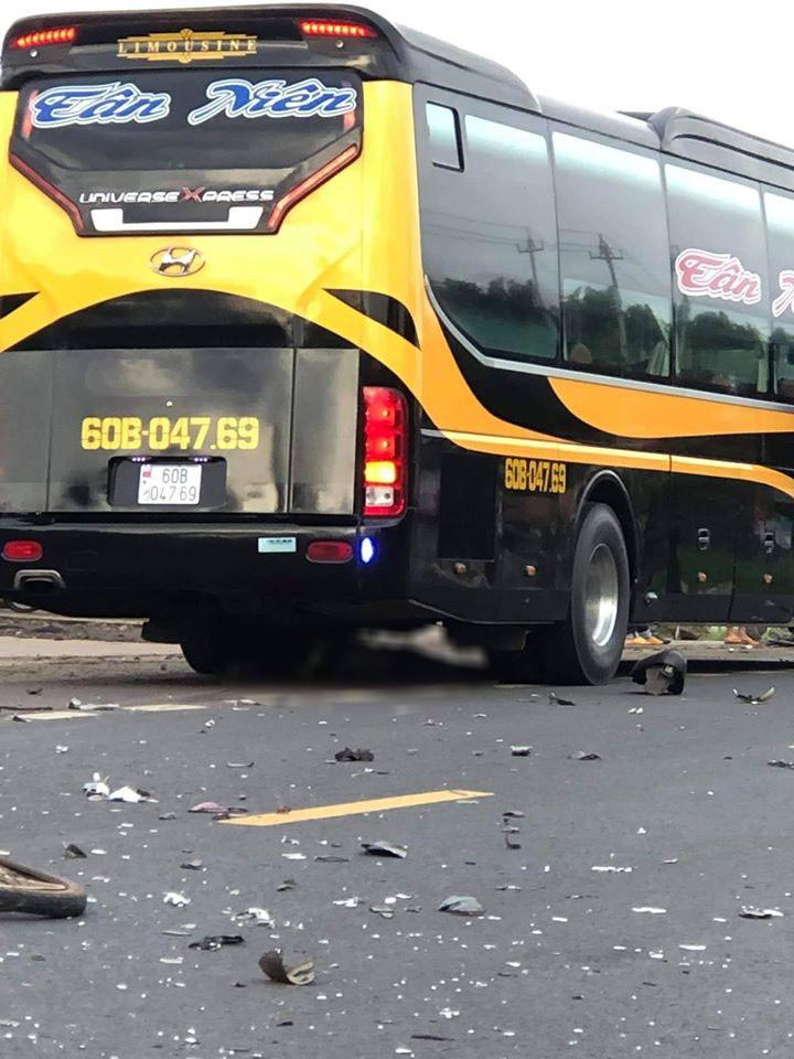Hiện trường vụ tai nạn trên quốc lộ 26
